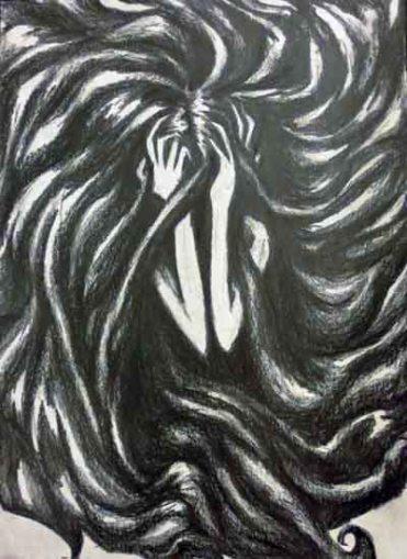 Despair, graphite, Una Verdandi 2015