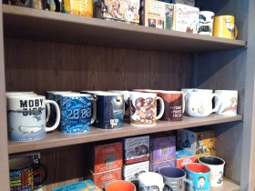 Gorgeous literary-themed mugs at Minotaur Games and Gifts.
