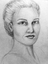 Sigyn, wife of Loki. (graphite on paper)