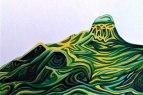 Green Wave (acrylic), Una Verdandi, 2018