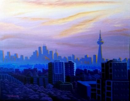 Toronto Sunrise (acrylic), 2019